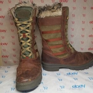 Keen Wapato Olive Green Brown Tall Winter Boots
